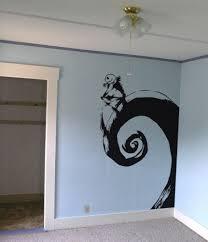 nightmare before skellington black vinyl wall