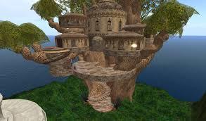 tree house elimourn lofted treehouse elven elf fae fairy homes
