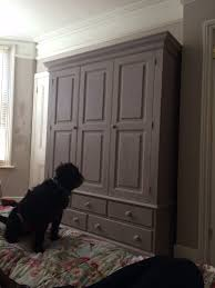 new wardrobe painted in annie sloan chalk paint paloma and