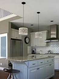 nice kitchen island lighting mixed with modern swivel chair as