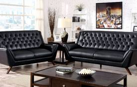 Black Leather Sofas Leather Sofa Sofa Sets Loveseat Chair Leather Furniture At