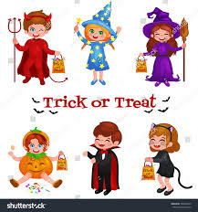 cute happy halloween images happy halloween set cute cartoon children stock vector 500496610