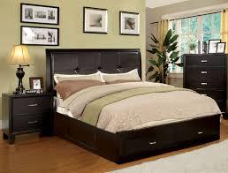 bedroom black round nightstand metal king size bed oversized