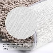 Rubber Backed Bathroom Rugs by Vdomus Contour Bath Rug Soft Shaggy U Shaped Toilet Floor Mat