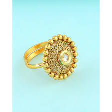 girls stone rings images Buy online anuradha art gold tone round shape studded stone jpg