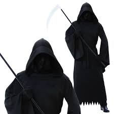 mens halloween phantom of darkness grim reaper ghoul scythe fancy