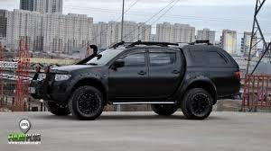 mitsubishi jeep 2008 mitsubishi l200 satin black matt profesyonel araç kaplama