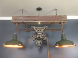 pool table ceiling lights cool pool table or bar light this hay trolley will spruce up any