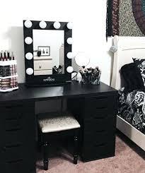 Makeup Organizer Desk Makeup Desk Storage Sequoiablessed Info