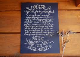 wedding vow cards written vows wedding vow artwork calligraphy vows