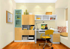 neat orange study room design idea with teen furniture designs and