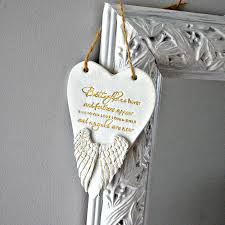 in memory ornament memorial gift wings remembrance