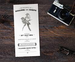 wedding invitations kildare sound of the songbird vintage bird wedding invitations