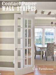 Temporary Wall Ideas by Contact Paper Wall Stripes City Farmhouse