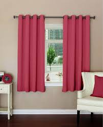 Buy Lushomes Plain Light Polyester Blackout Curtains For
