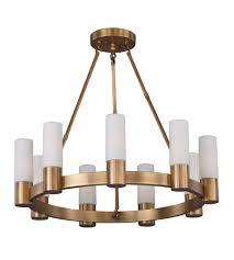 Aged Brass Chandelier Maxim 22418swnab Contessa 9 Light 27 Inch Aged Brass