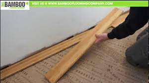 Bamboo Floor L How To Install Bamboo Flooring Tongue Groove Underlay