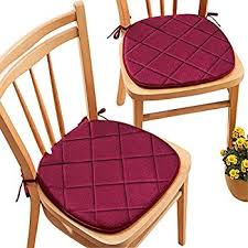 Chair Pads Quilted Memory Foam Cushioned Chair Pads With Ties Set