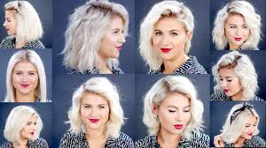 how to 10 easy short hairstyles with straightener tutorial