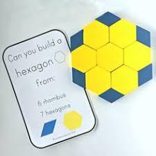 pattern blocks math activities pattern block hexagons hexagon shape pattern blocks and colour black