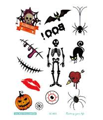 aliexpress com buy terrible temporary tatoo 4pcs lot halloween