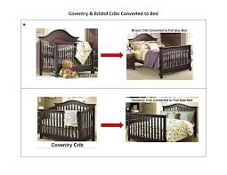 amazon com munire crib full size conversion kit bed rails