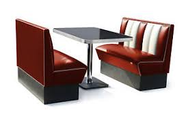 retro 50s diner furniture kitchen table restaurant bench booth