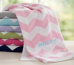 customized baby items chevron baby blanket pottery barn kids