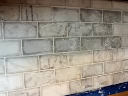 How To Tile Kitchen Backsplash by How To Grout Tile Backsplash Backsplash Tile No Grout Line Ebay