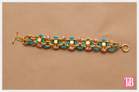 bracelet chain diy images Diy chain bracelet with studs and cord jpg