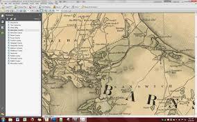 The Villages Map 1844 Borden Map Of Massachusetts