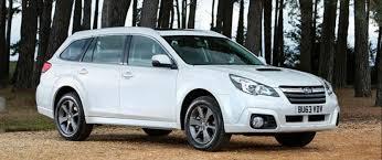 subaru white car subaru outback review confused com