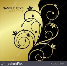 Gold Invitation Card Templates Gold And Black Invitation Card With Floral Background