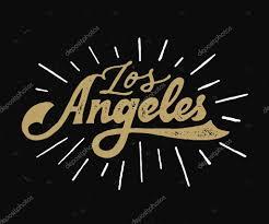 los angeles lettering stock vector tortugastudio