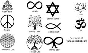 collection of 25 inspirational symbol tattoos