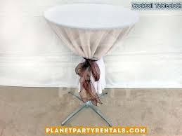linen tablecloth rentals cocktail tables