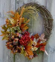Fall Wreaths Autumn Wreath Fall Floral Wreaths Designer By Newenglandwreath