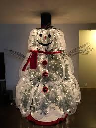 25 unique snowman tree ideas on tree decorations