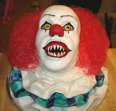 pennywise the clown cake spooky halloween cakes pinterest