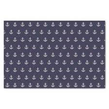 anchor wrapping paper blue anchor abstract geometric pattern black wrapping paper