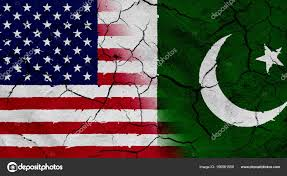 Pakistan Flag Picture Usa And Pakistan Flag With Dried Soil Texture U2014 Stock Photo