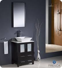 fresca torino single 24 inch modern bathroom vanity espresso