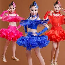 kids samba new child tassels professional sequined dress