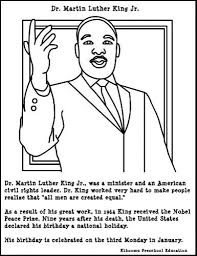 stylish attractive martin luther king coloring