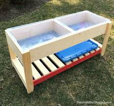 tall sand and water table diy sand and water play table for kids pinterest play table