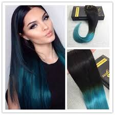 teal hair extensions 121 best clip in hair extensions images on balayage