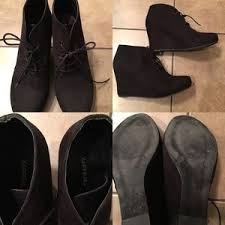 womens xappeal boots xappeal xappeal s black wedge booties size 10 from