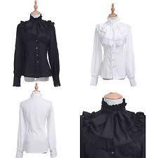 Black Blouse With White Collar Collar Blouses For Women Ebay