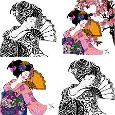 geisha graphic design illustration japanese geisha 1220 1230