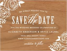 wooden save the dates made from real wood basic invite